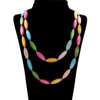 Ракушка Ожерелье, Женский, Много цветов для выбора, 30x10x5mm, длина:Приблизительно 45.5 дюймовый, 10пряди/сумка, продается сумка