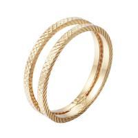 Кольца из латуни, Латунь, с 5cm наполнитель цепи, плакированный настоящим золотом, Женский, не содержит никель, свинец, 16-18mm, размер:5-7, продается PC