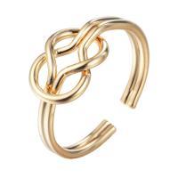 Кольца из латуни, Латунь, плакированный настоящим золотом, Женский, не содержит никель, свинец, 16-18mm, размер:5-7, продается PC