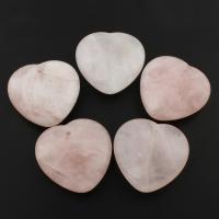Подвески из кварца, розовый кварц, Сердце, 45x45x5mm, отверстие:Приблизительно 1mm, 5ПК/сумка, продается сумка