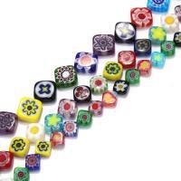 Бисер, выполненный в технике миллефиори, Стекло Шеврон, Ромбическая форма, разный размер для выбора, отверстие:Приблизительно 1mm, Продан через Приблизительно 16 дюймовый Strand