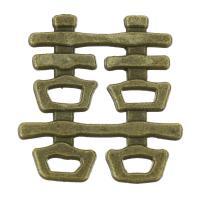 Ювелирные кабошоны из цинкового сплава, цинковый сплав, Покрытие под бронзу старую, 21x22x2mm, 200ПК/сумка, продается сумка