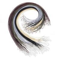 Вощеная хлопок шнур Шнурок для ожерелий, Женский, разноцветный, 2mm, длина:Приблизительно 17.7 дюймовый, 50ПК/Лот, продается Лот