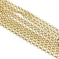Железо Ожерелье цепь, Другое покрытие, Мужская & Роло цепь, Много цветов для выбора, не содержит свинец и кадмий, 2mm, длина:Приблизительно 31 дюймовый, 10пряди/Лот, продается Лот