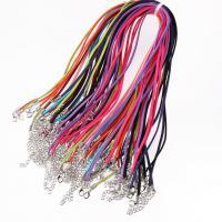 Бархат Шнурок для ожерелий, Много цветов для выбора, 3mm, 100пряди/Лот, продается Лот