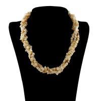 Ожерелье из ракушки, Ракушка, латунь Замок-карабин, с 7cm наполнитель цепи, Женский & 3-нить, 12x8x4mm-8x6x3mm, длина:Приблизительно 18 дюймовый, 10пряди/сумка, продается сумка