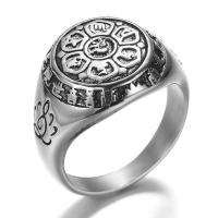Модные кольца, цинковый сплав, Другое покрытие, Мужская & разный размер для выбора, Много цветов для выбора, не содержит никель, свинец, 16.5mm, 20ПК/Лот, продается Лот
