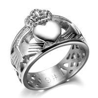 Модные кольца, цинковый сплав, плакирован серебром, Мужская & разный размер для выбора & отверстие, не содержит никель, свинец, 15.23mm, 20ПК/Лот, продается Лот