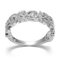 Кольца из латуни, Латунь, плакирован серебром, разный размер для выбора & Женский & со стразами & отверстие, не содержит никель, свинец, 6mm, 20ПК/Лот, продается Лот