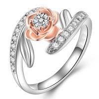Модные кольца, цинковый сплав, Другое покрытие, разный размер для выбора & инкрустированное микро кубического циркония & Женский & со стразами, продается PC