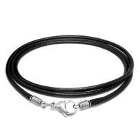 Вощеная Конопля шнура Шнурок для ожерелий, с титан, различной длины для выбора & Мужская, черный, продается Strand