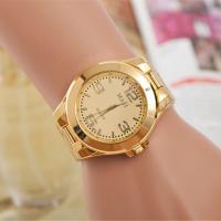 Часы унисекс, цинковый сплав, с Стеклянный, плакирован золотом, Мужская, Много цветов для выбора, не содержит никель, свинец, 45mm, 20mm, длина:Приблизительно 9.5 дюймовый, продается PC