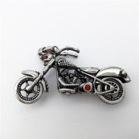 Ювелирные подвески из нержавеющей стали, нержавеющая сталь, Мотоцикл, со стразами & чернеют, 47x23mm, продается PC
