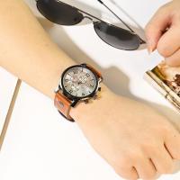 Часы унисекс, Искусственная кожа, с Стеклянный & нержавеющая сталь, Другое покрытие, Мужская, Много цветов для выбора, 40mm, длина:Приблизительно 9.8 дюймовый, продается PC