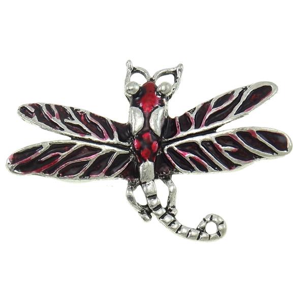 Sinkkiseos Animal riipukset, Dragonfly, antiikki hopea päällystetty, emali, enemmän värejä valinta, lyijy ja sen kadmium vapaa, 47x35x4mm, Reikä:N. 3x5mm, 20PC/laukku, Myymät laukku