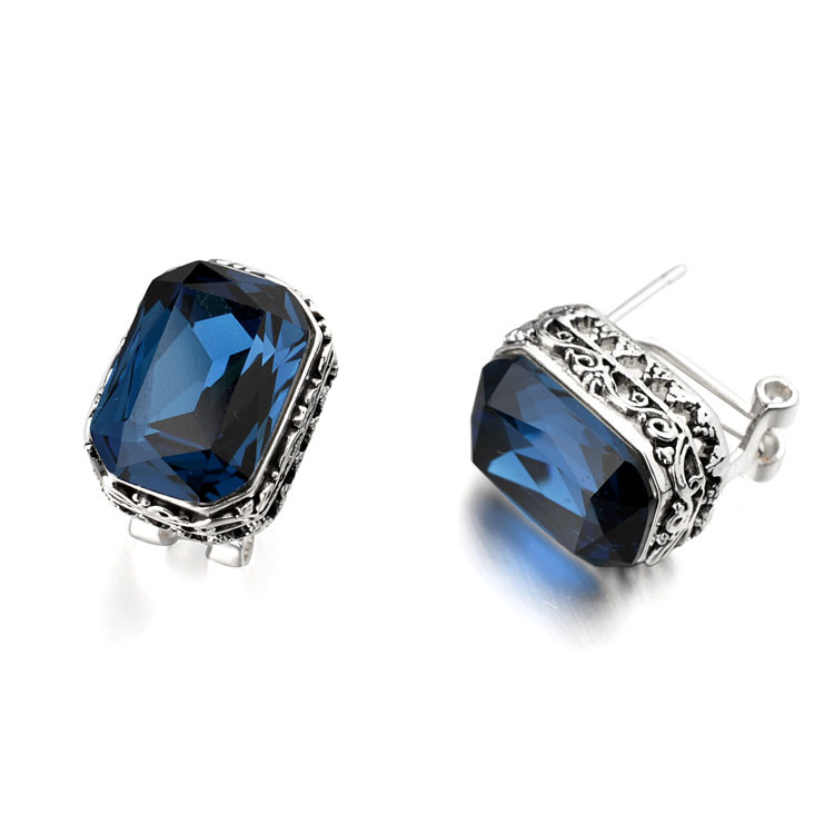 Buy sapphire earring square and get free shipping on