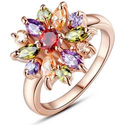 Cubic Zircon Brass Finger Ring