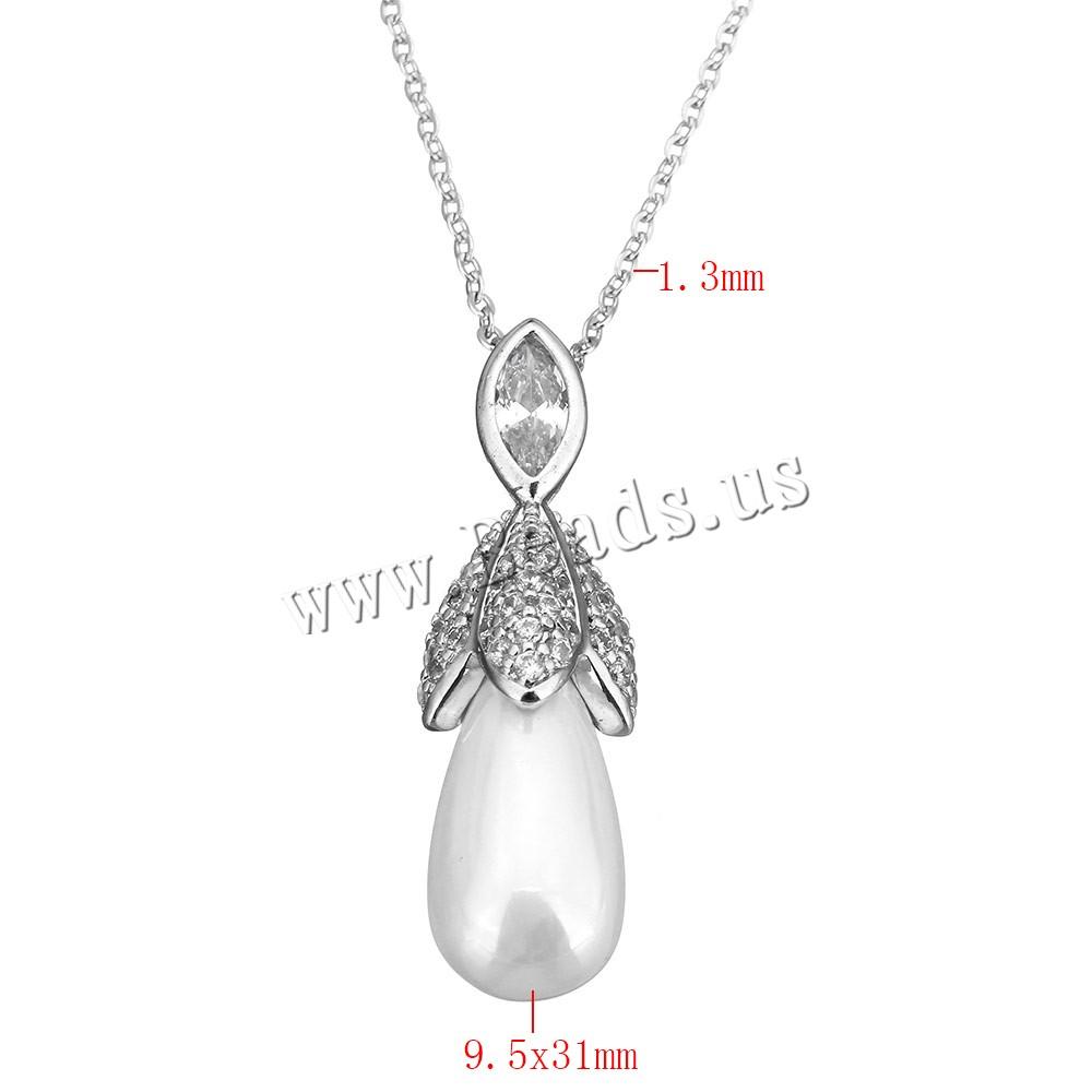 Γλυκού νερού μαργαριτάρι Brass αλυσίδα κολιέ c8b56c77e54