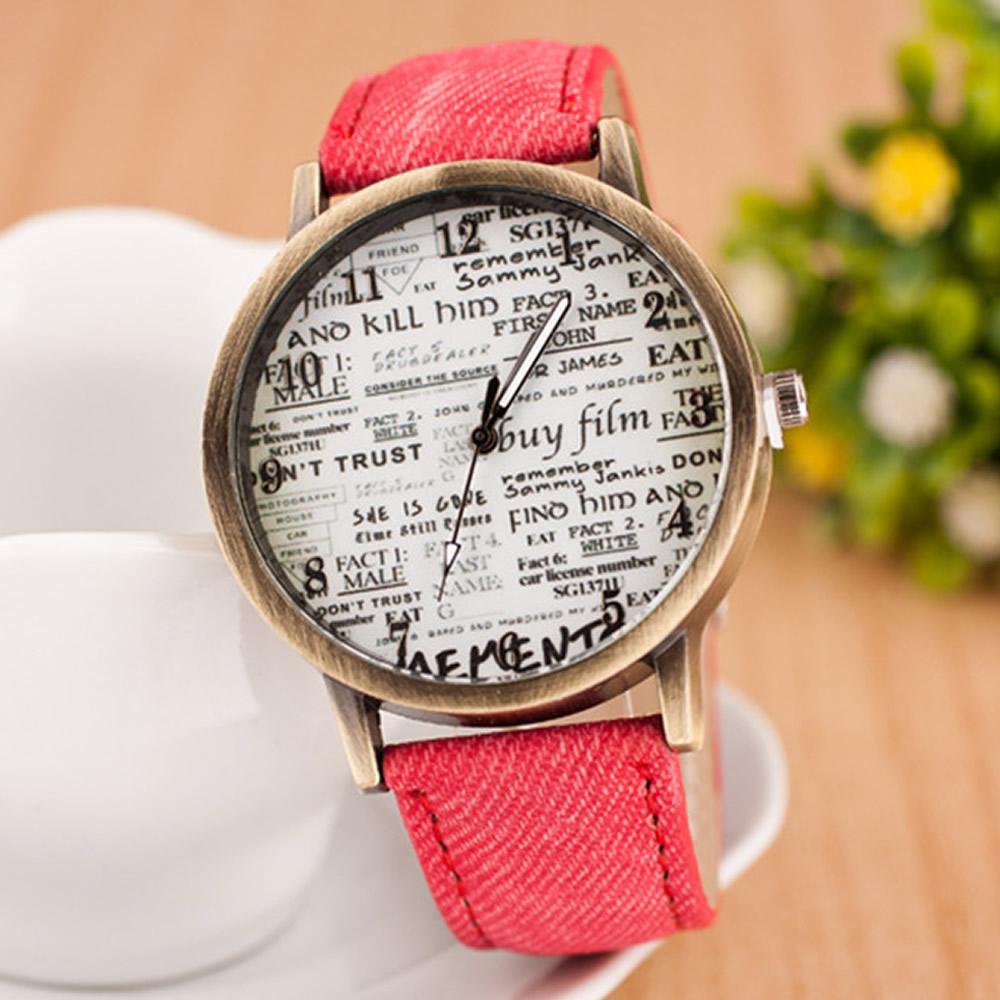 Наручные женские часы под бронзу
