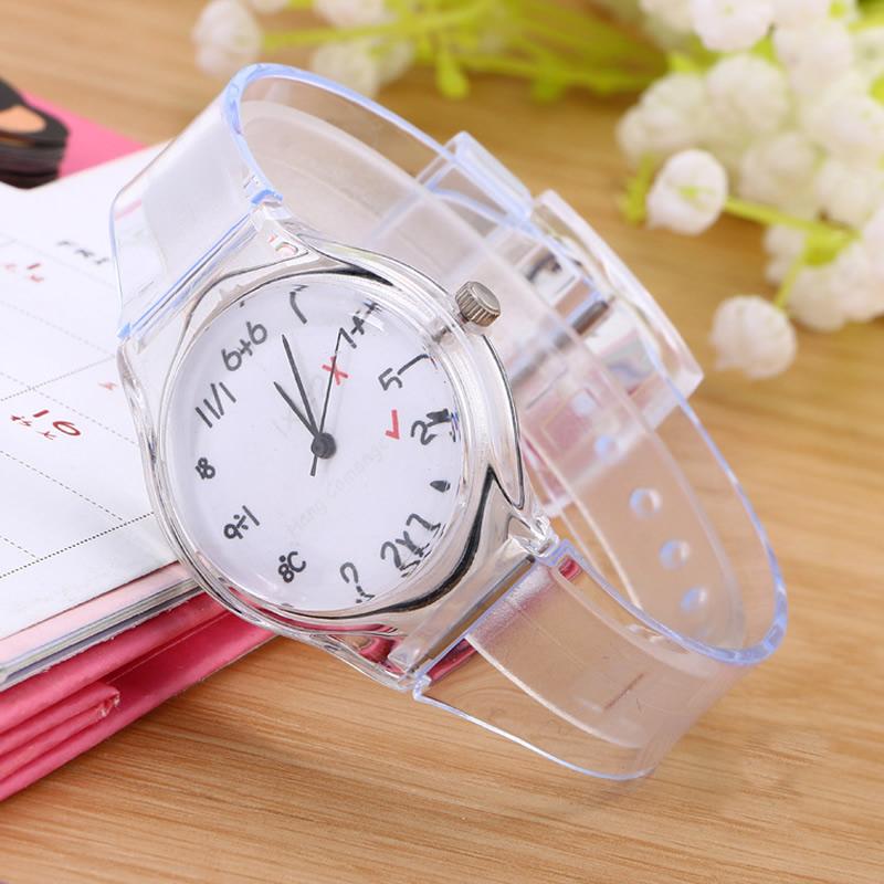 Часы наручные женские с прозрачным циферблатом red