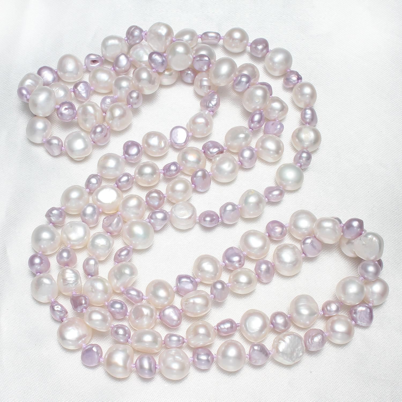 9-10mm barock Set1 Zuchtperlen Strang Süßwasser Perlen Schmuck Kette Halskette